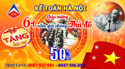Chương trình ưu đãi học phí tháng 10/2015 của kế toán Hà Nội