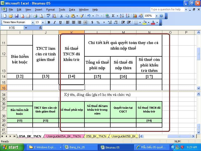 Công thức Excel hướng dẫn tính thuế thu nhập cá nhân
