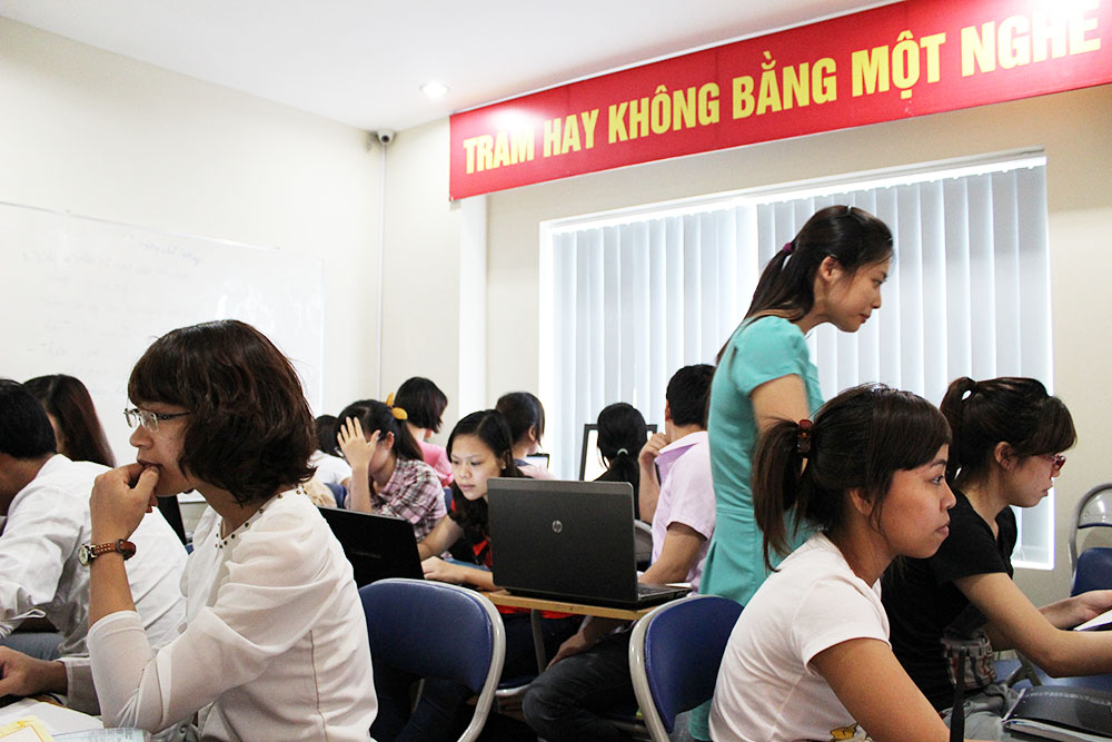 Trung tâm học kế toán thực hành ở Bắc Giang