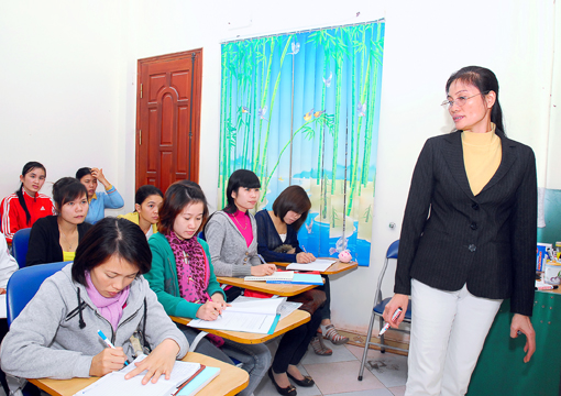 Lớp học kế toán thực hành tại Bến Tre