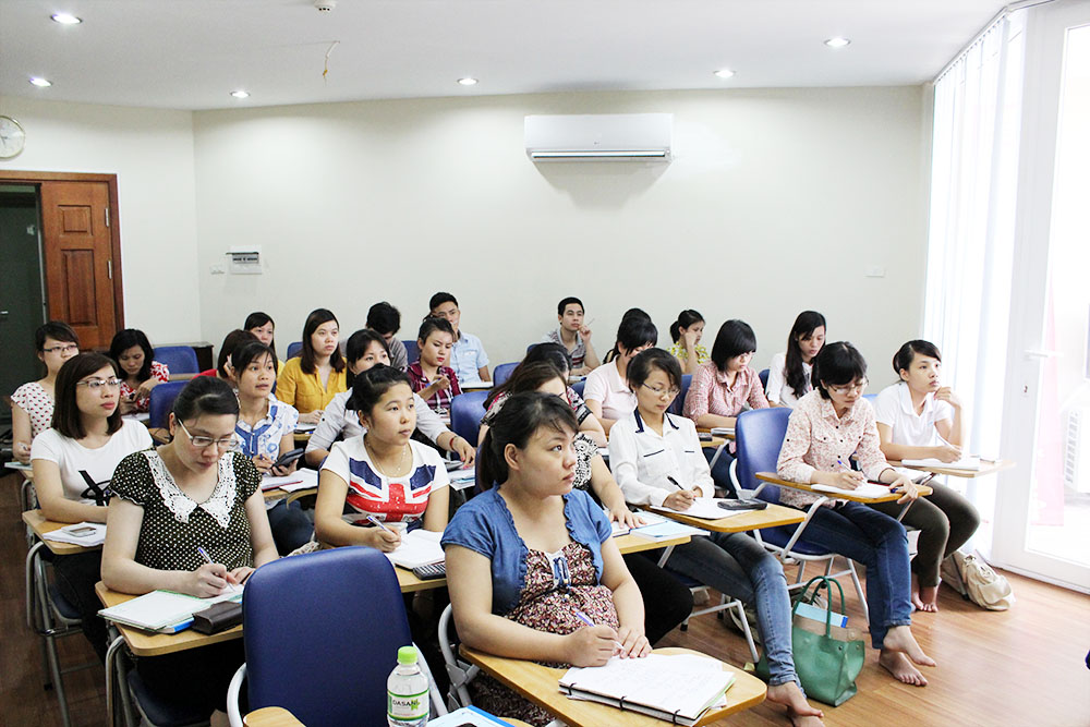 Lớp học kế toán thực hành tại Hoàng Mai