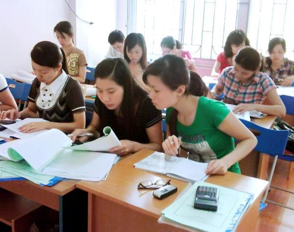Lớp học kế toán thực hành tại Trà Vinh