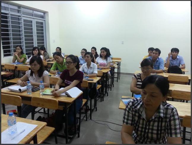 Lớp học kế toán thực hành tại Thái Bình