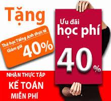 Chương trình ưu đãi học phí tháng 12 của kế toán Hà Nội