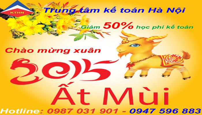 Trung tâm kế toán Hà Nội chào năm mới giảm 50% học phí