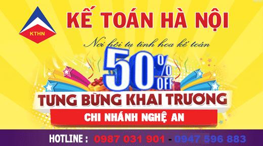 Chương trình ưu đãi học phí tháng 4/2015 của kế toán Hà Nội