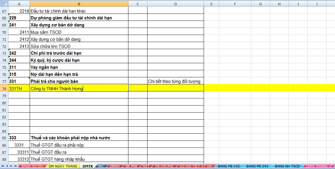 Hướng dẫn chi tiết làm báo cáo tài chính trên Excel